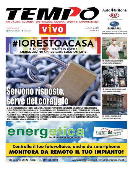 copertina Tempo n 14 covid-19